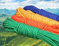 nylon fischen seil großhandel-10-50 Meter Nylon Seil für Magnet Angeln Dia. 2-10mm Außenbindendes Haupttrocknendes wasserdichtes Seil-strickendes Material des wasserdichten