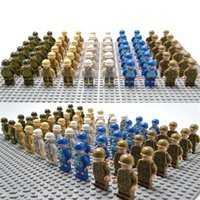Wholesale Toy Building Blocks Bulk - Assembled Blocks Cartoon Sea Land And Air Military Bulk Doll Collection Children Multiful Pattern Mini Building Block Toy 0 66ad W