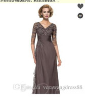 9e882939904 Wholesale mothers quinceanera dresses for sale - V Neck A Line Half Sleeves  Mother of the