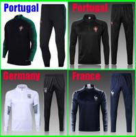 Wholesale Train Suits - Survetement Portugal Germany France soccer tracksuit 2018 2019 chandal de futbol jogging soccer training suit soccer jersey maillot de foot