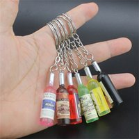 Wholesale smartphone charms for sale - Group buy Fashion Handmade Resin Wine Bottle Phone Chain Beer Bottle Cell Phone Pendant Key Chain For Smartphone