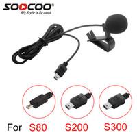 kamerahalterclip großhandel-SOOCOO Zubehör Erweiterte Mikrofon MIC Mike mit Halter Clip für S200 S300 4 Karat WIFI Sport Action Kameras