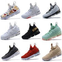 Wholesale signature white - 2018 New 15 xv Ashes Oreo Basketball Shoes Flowers and blue Classic Style Black White Signature EQUALITY sports designer Shoes Sneaker