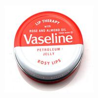 labio vaselina al por mayor-2018 Maquillaje caliente marca Vaseline Terapia de labios manteca de cacao para labios rosados que brillan intensamente Hidratante Jalea de petróleo hidratante Bálsamo labial Crema labial