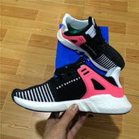 Wholesale black leather sport coat - 2018 Newest EQT 93 17 ultra boost shoe Support Future black white pink Coat of Arms Pack Men women turbo red casual sports Sneaker