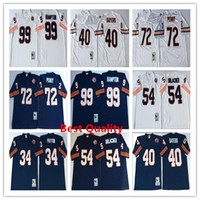 Wholesale Mens American Football Jerseys - NCAA Throwback Walter Payton jerseys American College football shirts dan hampton gale sayers william perry brian urlacher mens wears white