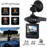 sistema de cámaras de china al por mayor-Más vendido 2.5 '' Car Dash cams Sistema de cámara grabadora DVR H198 versión nocturna Grabador de video dash Cámara 6 IR LED DHL