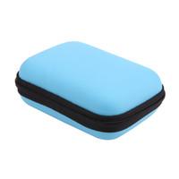 mini cargadores de celular al por mayor-Estuches suaves Mini caja de EVA cuadrada Auricular Bluetooth Caja de almacenamiento de cable para auriculares Cargador USB Cables Auriculares Mp3 / 4