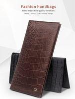 cep telefonu fabrikası toptan satış-Fabrika tanıtım L! Evrensel moda timsah desen ve bambu desen el yapımı deri kılıf kapak çevirin cep telefonu için kadar 6 inç