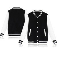 Wholesale clothe for sale - Group buy Fashion Couple Baseball Jackets Spring and Autumn Casual Panalled Sweat Jacket for Men and Women Couples Clothes Customization