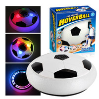 Wholesale glide ball - LED Light Flashing Ball Toys Air Power Soccer Balls Disc Gliding Multi surface Hovering Football Game Toy Kid Chidren Gift