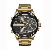 ingrosso orologi di grande fascia-AAA New Sports Mens Orologi quadrante grande quadrante Top Brand Luxury orologio da polso al quarzo Cinturino in acciaio 7333 Moda da polso da uomo 7315
