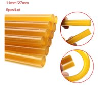 Wholesale Pdr Paintless Dent Repair Glue - PDR Glue 10 lot Strong Yellow Black Glue Sticks for Glue Pulling Paintless Professional Super PDR Dent Repair tools 11mmX27mm