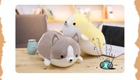 Wholesale animal plush valentine - 1PC cm Cute Corgi Dog Plush Toy Stuffed Soft Animal Cartoon Pillow Lovely Christmas Gift for Kids Kawaii Valentine Present