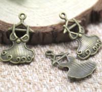 ingrosso ciondolo in bronzo-20pcs / lot - Charms vestito da partito, bronzo antico pendente di fascini di fascino di stile del partito adorabile 29x18mm