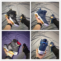 Wholesale Jeans For Cheap - With Box 2018 AAA+ quality Blue Black 6 VI Denim x Jeans Sports Basketball Shoes for Cheap 6s Mens Fashion Athletic Sneakers 7-13