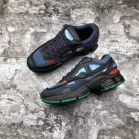 Wholesale marines sports - 2018 Release Originals x Raf Simons Ozweego 2 II Night Marine Blue Running Shoes Sports Sneakers For Men Authentic BY9866 With Box 40-44