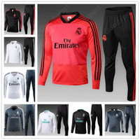 Wholesale hot sale jersey soccer for sale - Group buy 2019 REAL MADRID Tracksuits Training KITS outfits Pants Soccer Jerseys Ronaldo ASENSIO Football SERGIO RAMOS NEW HOT RED sale sy