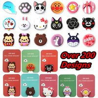 Wholesale iphone air online - 3D Cell phone bracket Cute Cartoon Dolls air bag Phone Expanding Stand Finger Holder Stand For iphone x samsung android phone