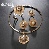 Wholesale wholesale nigerian jewelry - OUMEILY Nigerian Jewelry Women Beads Sets Big African Jewellery Sets Gold Color Eritrean and Ethiopian Wedding Costume Jewelry