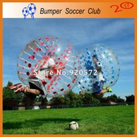 Wholesale inflatable human body - Free Shipping Durable 1.5m Inflatable Bumper Football Body Zorbing Bubble Soccer Ball Human Bouncer