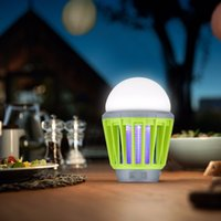 Wholesale gardening pests - Mosquito Zapper Lantern Camping Light USB Charging Mosquito Killer Lamp Bulb Pest Repeller Waterproof Bug Killer Garden Pest Control Tools