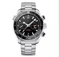 relojes de acero naranja para hombre al por mayor-Venta caliente de lujo para hombre deportes de acero inoxidable pulsera naranja bisel negro caucho cox axial relojes James Bond 007 relojes de pulsera relojes masculinos