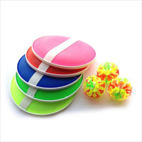 Wholesale funny activities - Outdoor Activity Game Funny Sticky Ball Game with 32 Suction Cup 2 Round Bats 2017 New Arrival
