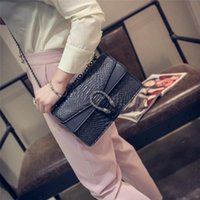 Wholesale small hasp lock - Womens Shoulder Bags Luxury Handbags Snake Leather Embossed Bag Chain Messenger Bags Crossbody Bag Brand Designer Ladies Hand Bags