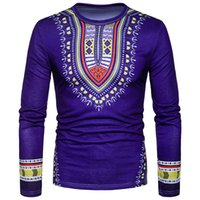 Wholesale Ethnic Clothes Men - Paisley Printed Long Tshirts For Men Spain Ethnic Printed T Shirts Fashion Brand Clothing Hot Sale
