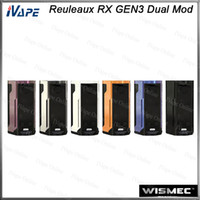 Wholesale large mods for sale - WISMEC Reuleaux RX GEN3 Dual TC Box MOD W with inch Large Display Dual Circuit Protection Firmware Upradable Original