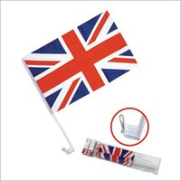 Wholesale world cars for sale - Russia World Cup Car Flag Football National Team Flags Window Clip cm Double Sided Banners cg WW