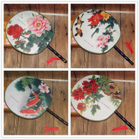 Wholesale red vintage accessories for sale - Chinese Style Circular Fan Women Ancient Classical Dance Show Props Vintage Han Clothes Hand Held Fans Party Supplies lw bb