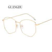 Wholesale flat sunglasses men resale online - Hot Sale Men s Fashion Oversized Brand New Sunglasses Flat Sunglasses Myopia Frame Men Brand Designer