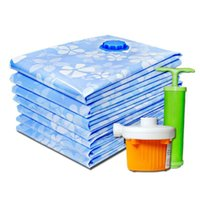 Wholesale vacuum bags space saving - New 2018 Flower Printed Foldable Extra Large Compressed Organizer Vacuum Bag Clothing Storage Bag Saving Space Accessories