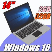 Wholesale ultrabook 14 inch - free Shipping 14 inch mini laptop computer Windows 10 2G RAM 32G emmc Ultrabook tablet laptop with lowest price
