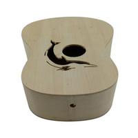 гитарный комплект diy оптовых-21 дюймов DIY укулеле комплект липы тела пластиковые гриф маленькая гитара DIY ручной сборки укулеле музыкальный инструмент
