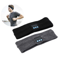 Wholesale yoga headband black for sale - Group buy Bluetooth Music Headband Stereo Wireless Headset Mens Womens Sports Running Fitness Yoga Stretch Head Wrap Caps Perfect Gifts