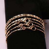 bijoux remplis d'or achat en gros de-Bijoux exquis de mode 18k Gold Filled Or DIY chaîne collier taille 18-24 pouces pour les femmes hommes