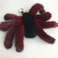 "Wholesale spider real - 25cm 10""- Super Large 100% Real Fur Spider Bag Charm cosplay keyring pendant"