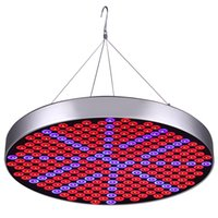 Wholesale Ufo Leds - 50W LED Plant Grow Lights Shengsite UFO 250 LEDs Indoor Plants Growing Light Bulbs with Red Blue Spectrum Hydroponics Plant Hanging Kit