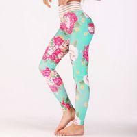 frauen trainieren kleidung großhandel-Rosa Mesh Frau Yoga Hosen Fitness Sport Leggings Laufhose Stretch Hose Übung Training Gym Kleidung Dropship