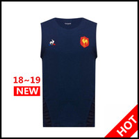 Wholesale best waterproof clothing for sale - Group buy Best Quality new France Rugby Jerseys Singlet France Shirt League jersey vest Casual clothes s xl