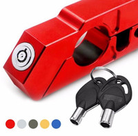 Wholesale color security - Handlebar Lock Scooter Brake Security Theft Protection For Motorcycle Lever Throttle Security Lock 5 color EEA148
