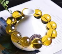 sterling silber mexikanischen armbänder großhandel-Natürliche Bernstein Wachs Armband mexikanische sauberes Wasser blau Dichter Armband zweite Generation Bernstein Armband Gold