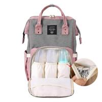 moda hemşireliği toptan satış-Moda Bebek Nappy Çantalar Çok Fonksiyonlu Kadınlar Seyahat Sırt Çantası Hemşirelik El çantası Mumya Bezi Çanta Bebek Bakımı