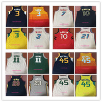 Wholesale jersey 11 - 2018 New 23 LeBron James 10 Demar DeRozan 21 Whiteside 3 Wade 7 Dragic 11 Kyrie Irving 3 Ricky Rubio 45 Donovan Mitchell Basketball Jerseys