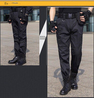Wholesale military uniform army black - Military Uniform Mens Black Pants Male Large Size 38 Army US Tactical Combat Pants Fomal Multi Pocket Cargo Trousers