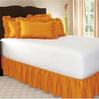 ingrosso biancheria da letto d'angolo della regina-Gonna da letto solida ed elastica di alta qualità