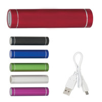 Wholesale cylinder portable charger online – 2600mah Power Bank USB Battery Charger Cylinder Shape Portable Mobile Power Bank with Retail Package